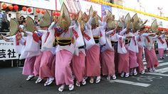 Tokushima City's Awa Odori is the most famous of many dance festivals held across Japan during the Obon season in mid August.