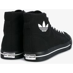 Adidas By Raf Simons Raf Simons x Adidas 'Matrix Spirit' hi-top... (950 ILS) ❤ liked on Polyvore featuring shoes, sneakers, hi tops, wedge shoes, adidas high tops, black and white wedge sneakers and high top trainers