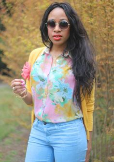how to wear floral print, Style Bloggers of Color, black fashion blogger