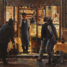 "Bar Tritone by James Crandall Oil ~ 30"" x 30"""