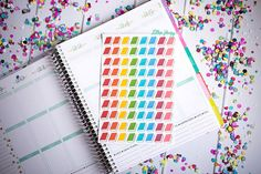 Books Rainbow FUN-ctional Stickers! Set of 80 small stickers, perfect for your Erin Condren Life Planner, calendar, Filofax, Plum Planner!