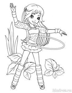 Раскраска для девочек 6-8 лет