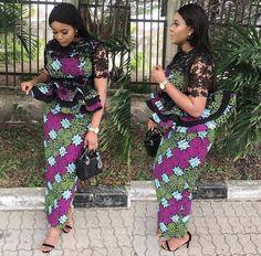 Trendy Ankara Styles, Ankara Dress Styles, African Print Dresses, Blouse Styles, African Prints, African Dress, Ankara Tops, African Clothes, African Lace
