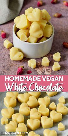 Dairy Free Recipes Easy, Delicious Vegan Recipes, Whole Food Desserts, Whole Food Recipes, Easy Desserts, Vegan Treats, Vegan Snacks, Vegan Food, Vegan White Chocolate