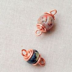 Handmade spiral wire bead caps. Free tutorial, DIY at Lisa Yang's Jewelry Blog  #Wire #Jewelry #Tutorials
