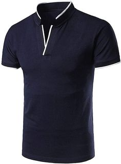Bekleidung, Herren, Tops, T-Shirts & Hemden, Poloshirts Polo Shirt, Mens Tops, Fashion, Button Up Shirts, Mandarin Collar, Summer, Clothing, Moda, Polos