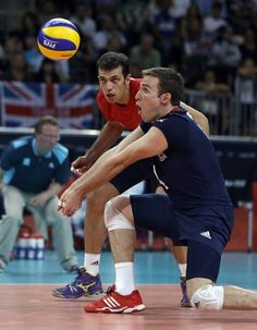 Men's Group A: Great Britain vs. Italy - Volleyball Slideshows | Great Britain is still looking for its first-ever Olympic men's volleyball win after being swept by Italy in each team's third Group A preliminary-round match.  (Photo: Jeff Roberson / Associated Press) #NBCOlympics