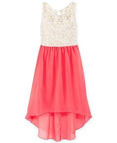 Ruby Rox Girls' Crochet High-Low Dress - Kids Dresses & Dresswear - Macy's