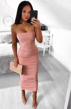 Haven Maxi Dress - Dusty Pink – Babyboo Fashion Pink Bodycon Dresses, Bodycon Dress Parties, Sexy Dresses, Summer Dresses, Formal Dresses, Prom Dresses, Birthday Dinner Outfit, Thing 1, Buy Dress