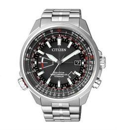 Reloj Citizen Crono Pilot Super Titanio CB0140-58E
