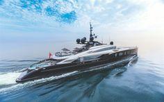 Herunterladen hintergrundbild oktay, 4k, luxusyacht, meer, isa yachts