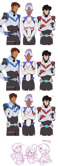 Lance, Allura, Keith