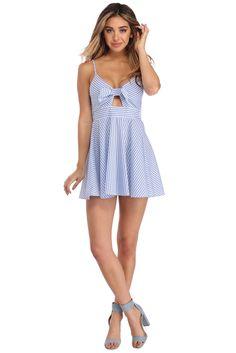 Light Blue Summer Fun Stripe Dress