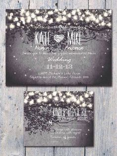 Same with these, love the twinkling lights, but the invite also included tree branches which reminded me of the ranch as well.