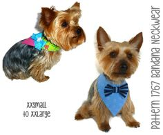 Dog Bandana Pattern 1767  XXSmall to XXLarge  by SofiandFriends
