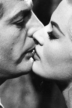 mysleepykisser-with-feelings-hid:  Marcello Mastroianni and Anita Ekberg in La Dolce Vita, 1960, directed by Federico Fellini