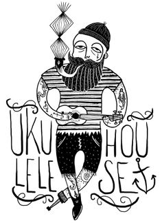 I like the ukulele in this illustration Ukulele Tattoo, Ukulele Art, Ukelele, Ad Art, Print Ads, Make Me Happy, Mickey Mouse, Disney Characters, Fictional Characters