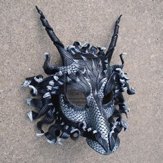 Great Pewter Dragon Mask by *merimask on deviantART