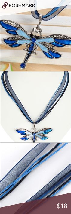 Beautiful Dragonfly Necklace Beautiful dragonfly necklace with coordinating ribbon Jewelry Necklaces