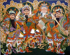사천왕 Four Heavenly Guardian Kings. Originally associated with Buddhism, but…