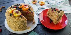 Классический торт Медовик со сметанным кремом - пошаговый рецепт с фото. Classic honey cake with sour cream - step-by-step recipe with photos. Russian cuisine.