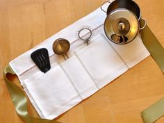 Making a Toddler Apron Out of Hemstitched Linen Towels DIY Tutorial
