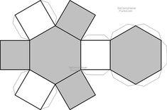 Recortable hexagono | Dibujos para recortar y colorear