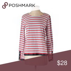 J. Crew Long Sleeve Top (Size S) - Style: crew neck, long sleeve - Color: Striped - Size: S - Material: Cotton - Condition: Like new. Worn once! J. Crew Tops Tees - Long Sleeve