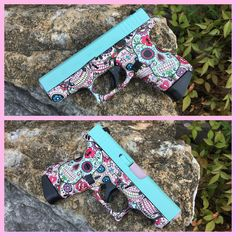 Custom Glock 42!  Hydrodip from H2O Ink and Clear Coat and Cerakote by Burdett & Son!  Collaborations always turn out so well!