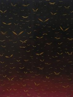'Heaven and Hell.' Painting by Fred Tomaselli. - gradation