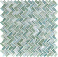 Dynamic Surfaces  Herringbone, Herringbone, Cerulean Shimmer, Frosted, Green, Glass