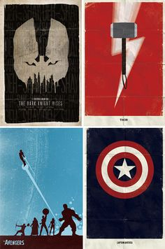 Movie Poster Minimalism: 41 Stripped-Down Examples // Superhero movies have surged back into popularity. To counter-balance the super slickness of these new graphic bonanzas, here are a few vintage, toned-down examples of superhero posters from an alternate universe.