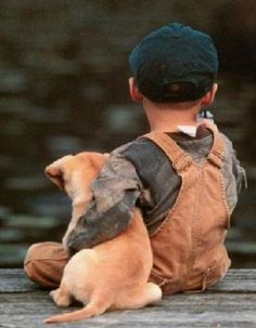 A boy and his puppy...a beautiful thing <3