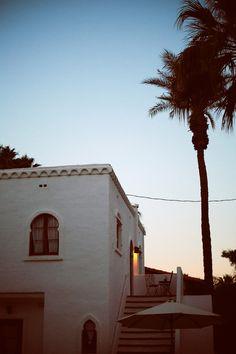 Sundown at the Korakia Pensione, Palm Springs.