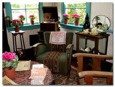 de huiskamer van de jaren '50