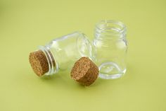 Mini Glass Bottles with Cork 50ml 2.3in (Pack of 10)