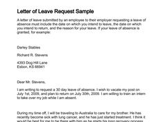 Awesome Leave Request Letter Images  Leave Request Letters
