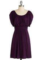 Go-to. --Purple dress