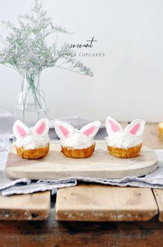 Coconut Bunny Cupcakes - lark & linenlark & linen