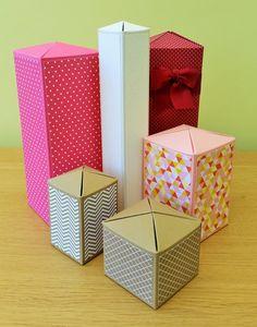 Cross Close Box mit Maßangaben für verschiedene Größen und Höhen