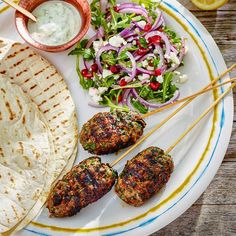 Makes 6 delicious lamb mince koftas, paired perfectly with a fresh yoghurt dip perfect for outdoor dining. Cooked on the Barbecook® Tabletop Barbecue.