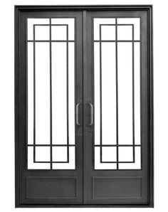 Mirá imágenes de diseños de Casas de estilo moderno en negro: Puerta de hierro modelo Sara. Encontrá las mejores fotos para inspirarte y creá tu hogar perfecto.