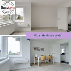 Vacant house in Denmark staged for sale.