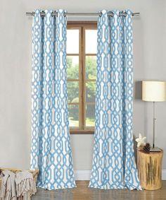 Sky Blue Ashmont Curtain Panel - Set of Two #zulily #zulilyfinds