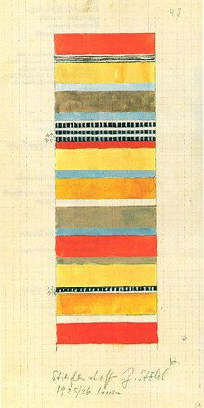 Design for striped fabric 1925/26 30.6x14.8  Bauhaus-Archiv, Berlin Gunta Stölzl--1925-1931 > Designs for Fabrics