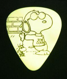 Cool Guitar Picks | Snoopy Joe Cool Brass Guitar Pick by ColemanCustomPicks on Etsy