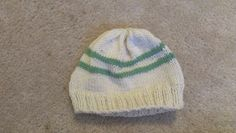 Beanie! With strips! I gave this one to a friend