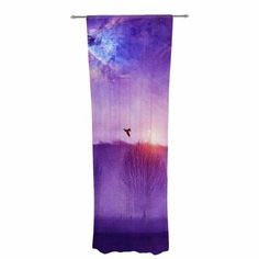 East Urban Home Viviana Gonzalez Orion Nebula Graphic Print & Text Sheer Rod Pocket Curtain Panels Rod Pocket Curtains, Grommet Curtains, Drapes Curtains, Curtain Panels, Orion Nebula, Thermal Curtains, Graphic Prints, Purple, Blue