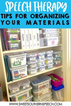 FINALLY get your speech therapy room chaos under control with these tips for organizing your printables and materials by month and theme. Perfect for the preschool or elementary school-based SLP. Speech Therapy Organization, Speech Therapy Themes, Speech Therapy Activities, Articulation Activities, Movement Activities, Motor Activities, Room Organization, Physical Activities, Speech Language Therapy
