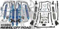 "Recon DSS 2.5 12"" Front w/ 2.5 12"" Rear Coilovers & Teraflex Alpine Long Arm Suspension Conversion For Jeep Wrangler JL 2018+ Combat Rock, Compressive Strength, Wrangler Jl, Jeep Accessories, Lift Kits, Street Smart, Ford Bronco"